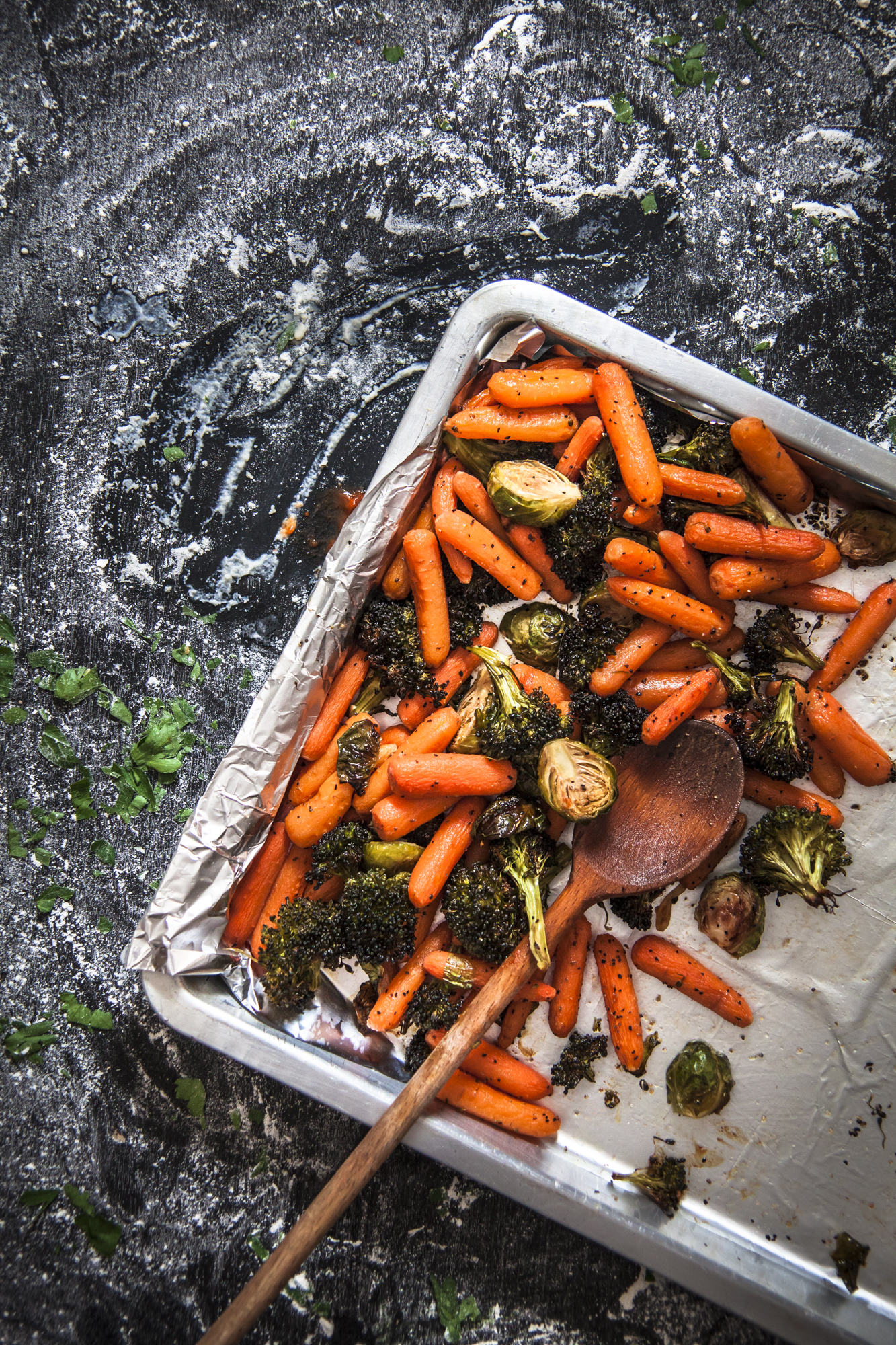 Oven Roasted Carrots and Broccoli - Flavor Quotient